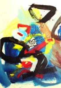 Ombre et lumière – acrylique sur papier (70x100cm) 2005 (Ombre et lumière)
