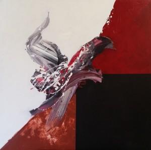 acrylique sur toile (90x90cm) 2013 (Espaces Cruciformes)