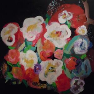 Floralies – acrylique sur toile  (200x200cm) 2014 (Floralies)