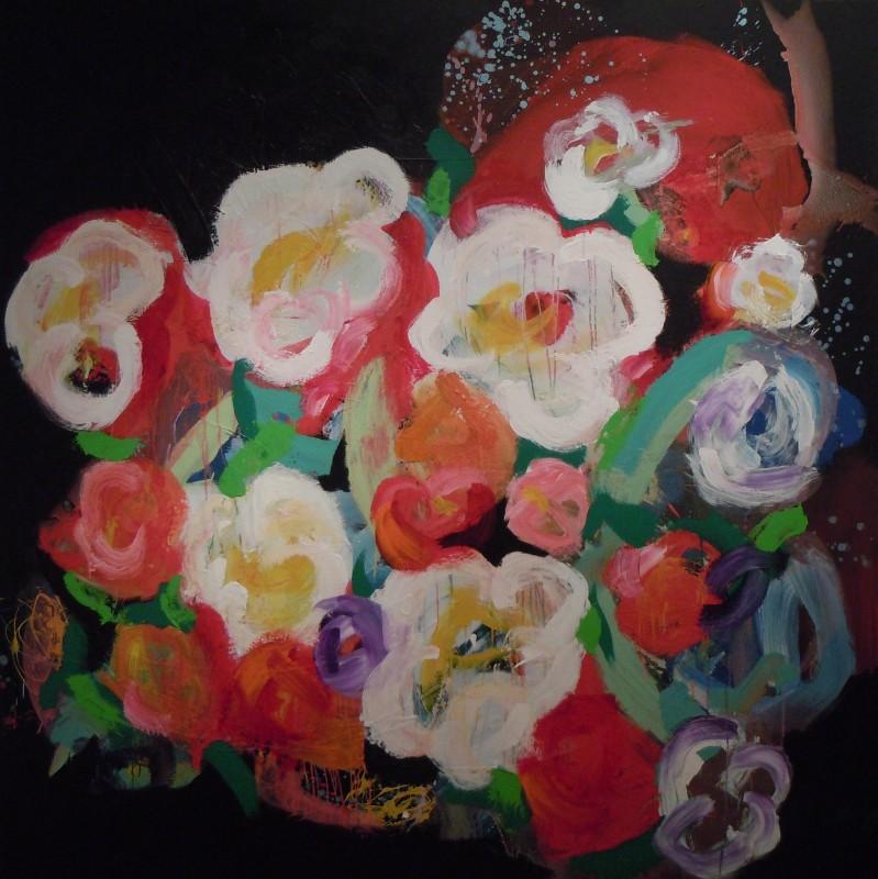 Floralies - acrylique sur toile (200x200cm) 2014