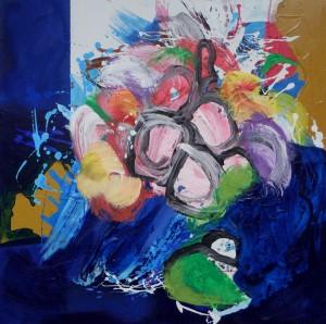Floralies – acrylique sur toile (70x70cm) 2014 (Floralies)