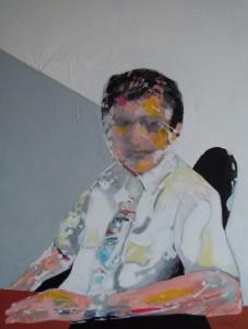 Sans titre – acrylique sur toile (100x80cm) 2011 (Portraits d'après nature)