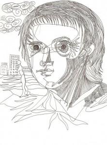 Dis-moi qui tu es! – dessin sur papier (30x21cm) 2011 (Poétique du corps)