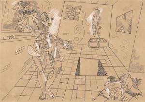 Me débarasser des énigmes – crayon, encre sur papier (21x30cm) 2011 (Poétique du corps)