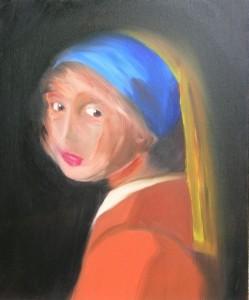 La jeune fille à la perle (vermeer) 2006 – interprétation du tableau de vermeer-huile sur toile (La jeune fille à la perle)