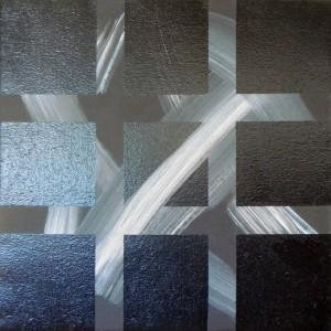 Sans titre – acrylique et peinture synthétique sur toile (70x70cm) 2008 (Espace cruciforme)