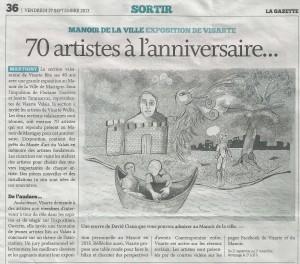 La Gazette 27 sept 2013 (Articles presse)