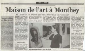Nouvelliste 29 août 1997 (Articles presse)