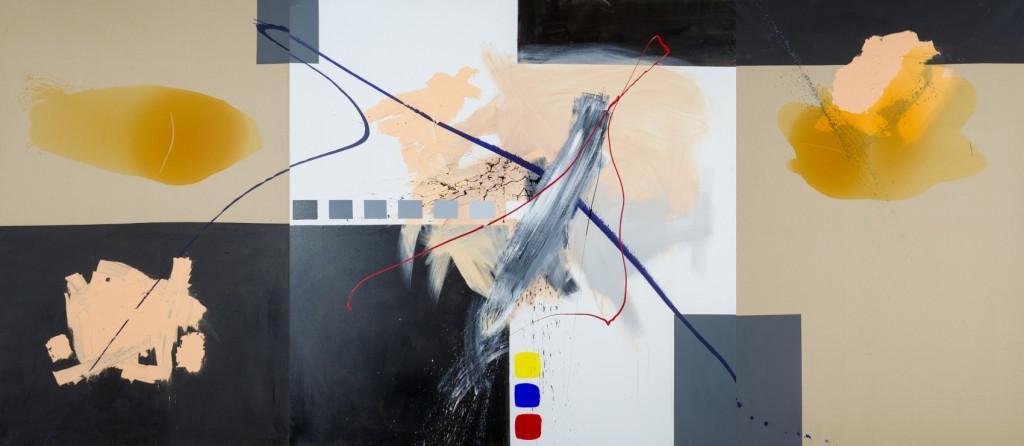 instant crucial - technique mixte sur toile (200x460cm) 2001